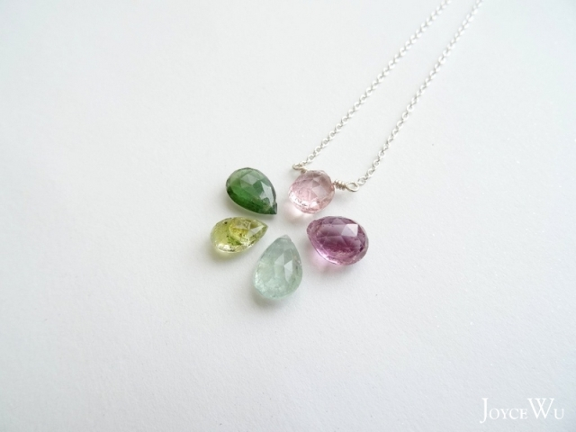 faceted teardrop tourmaline briolettes