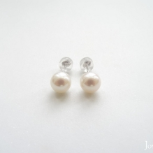 14K White Gold, Freshwater Pearl