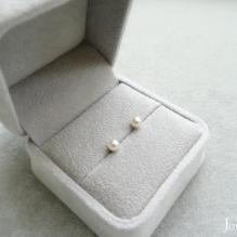 14K White Gold, Akoya Seal Pearl
