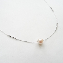 18K White Gold, Akoya Seal Pearl
