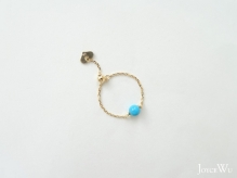 18K Yellow Gold, Turquoise